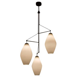 Three Shade Chandelier by Stilnovo