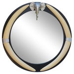 "Image of Round Mirror With Elephant and ""Tusks"""