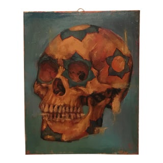 Contemporary Skull Oil Painting
