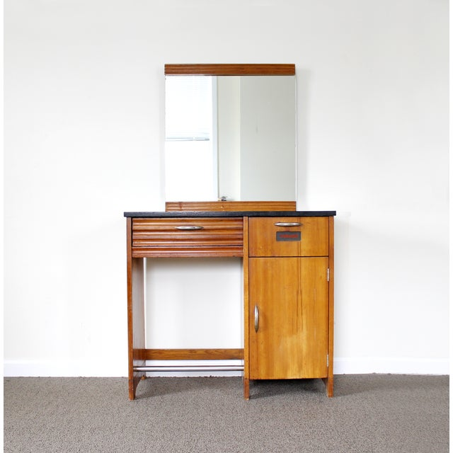 Antique Art Deco Doctor's Cabinet with Mirror - Image 2 of 11