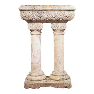 19th Century French Carved Stone Jardiniere From Normandy
