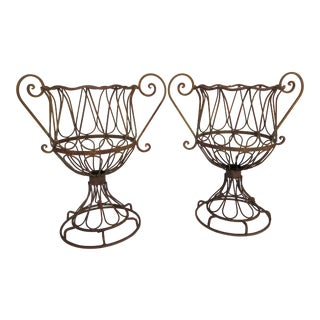 French Iron Planters - A Pair