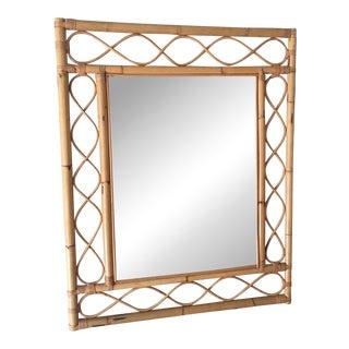 Vintage Mid-Century Rattan Mirror