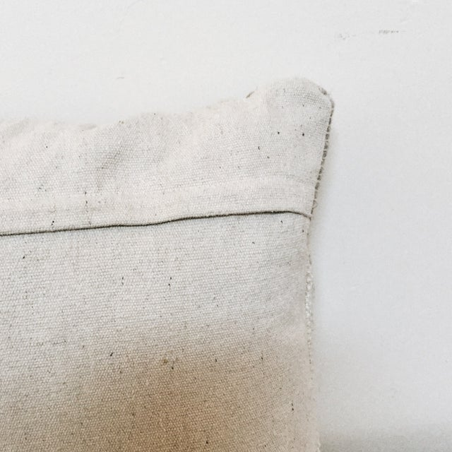 Image of Gray & White Woven Wool Pillow