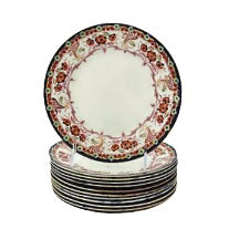 English Floral Dessert Plates - Set of 12