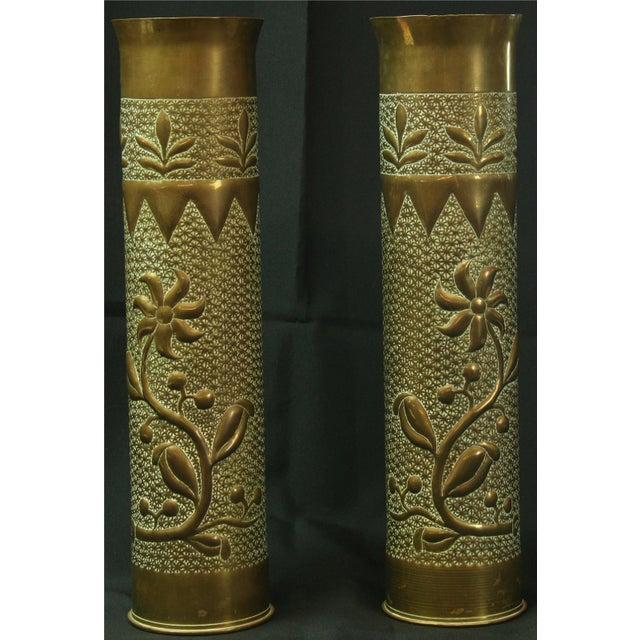 Antique Belgian Militaria Shell Case Brass Vases - Image 2 of 8