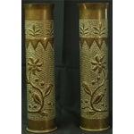 Image of Antique Belgian Militaria Shell Case Brass Vases