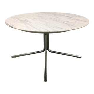 Mid-Century-Style Marble Side Table