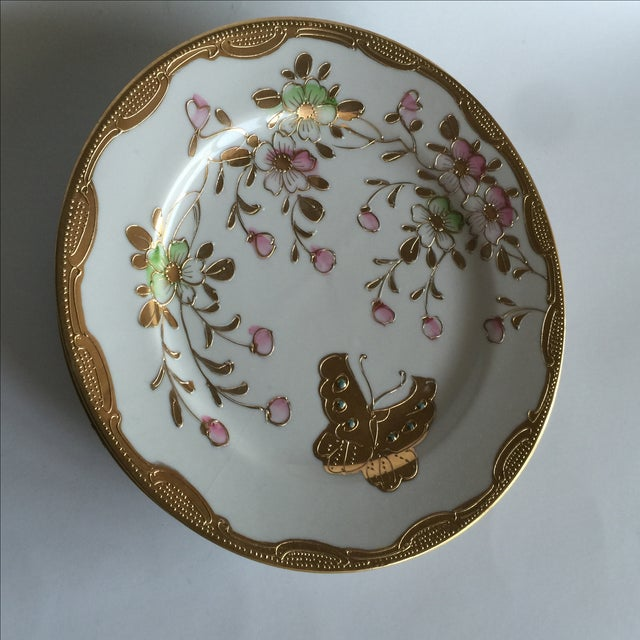Mid-Century Asian Butterfly Plates - Set of 4 - Image 10 of 10