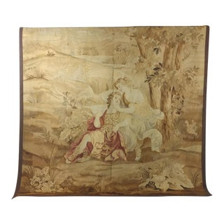 19th century Beautiful Antique French Aubusson Tapestry