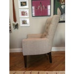 Image of Custom Tufted Wingback Chair - a Pair