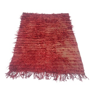 Tribal Angora Kilim Rug - 3′5″ × 4′3″