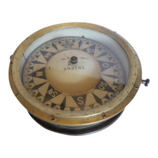 Antique Nautical Magnetic Ship Compass