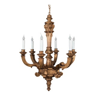 Antique French Giltwood Chandelier circa 1900