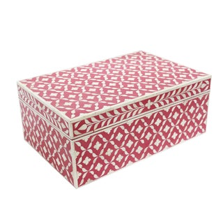 Pink Bone Inlay Box
