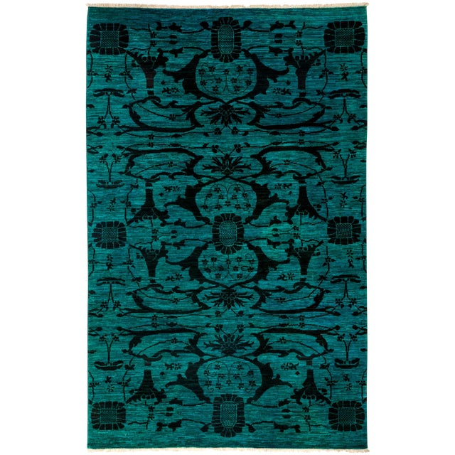 """Image of Vibrance Hand Knotted Area Rug - 5'1"""" X 7'10"""""""