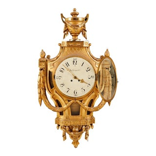 Gustavian Antique Wall Clock