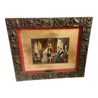 """Introducing The Bride"" Print in Ornate Victorian Frame"
