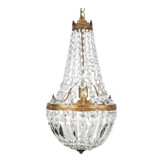 Antique Empire Style French Crystal Chandelier