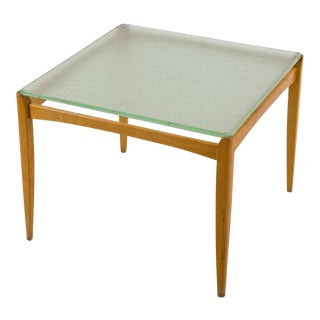 Axel Larsson Table with Glass Top, Bodafors, Sweden, 1930s