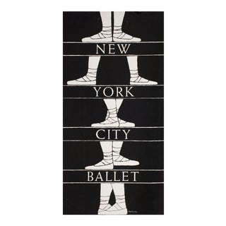 1976 NYC Ballet Silkscreen Designed by Edward Gorey
