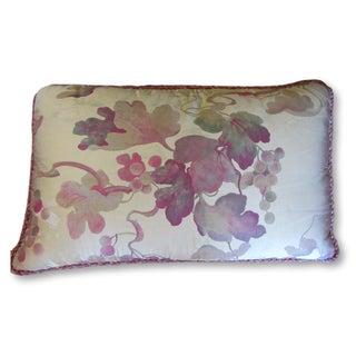 Custom Made Silk Grape Motif Pillow