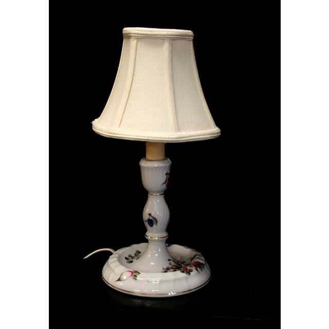 Image of Antique Herend Candlestick Lamp