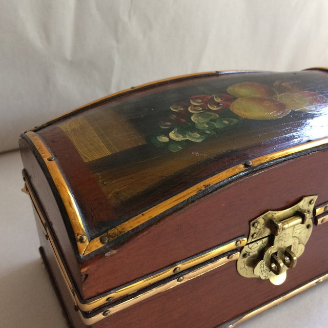Vintage Hand Painted Fruit Motif Wooden Box - Image 10 of 11