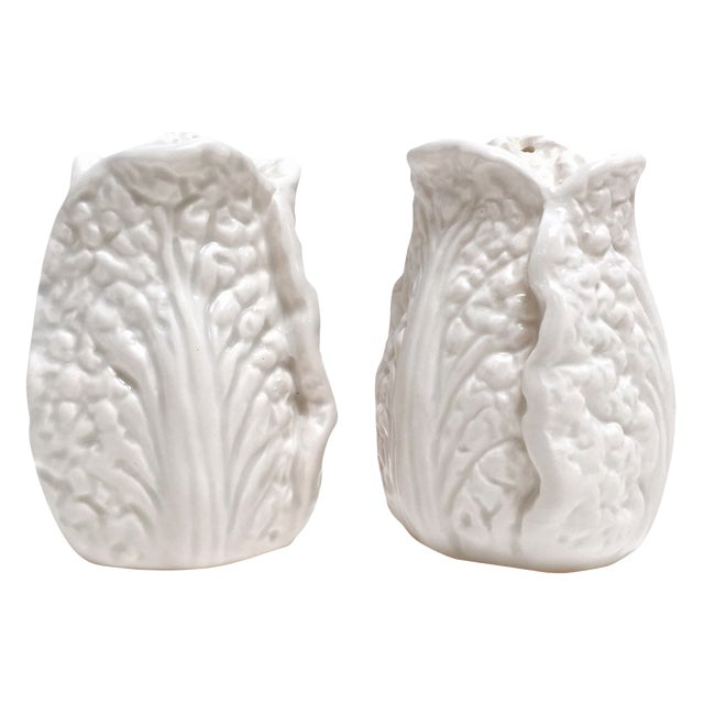 Fitz & Floyd White Cabbage Shakers - A Pair - Image 1 of 8