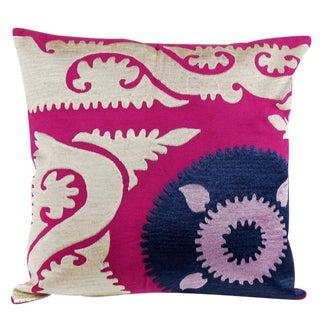 Rose Suzani Crest Pillow