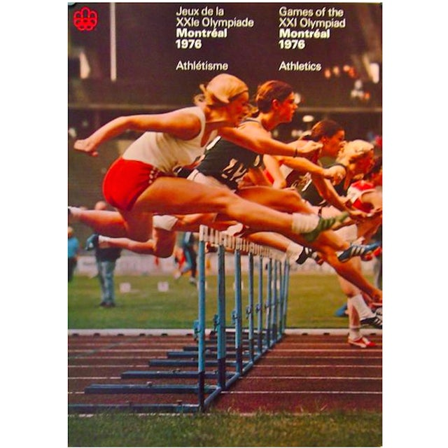 1976 Montreal Olympics Athletics Poster - Image 2 of 2