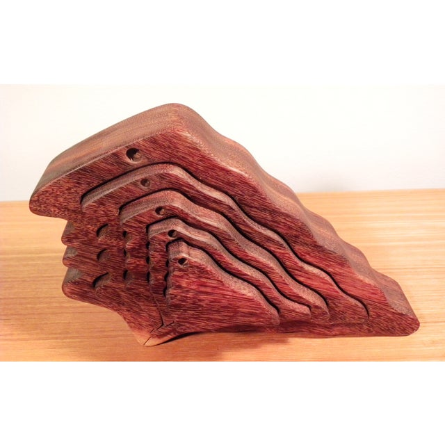 Mid-Century Modern 3D Silhouette Wood Sculpture - Image 3 of 5