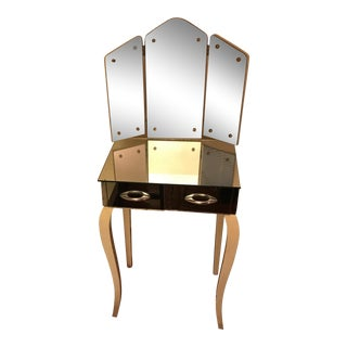 1940s Antique Mirrored Vanity