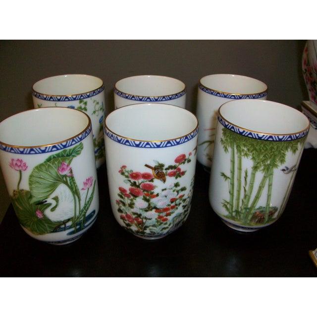 Franklin Mint Japanese Style Porcelain Tea Set - Image 10 of 11