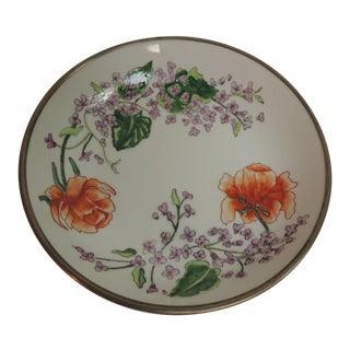 Vintage Japanese Imari Porcelain Enameled Metal Plate