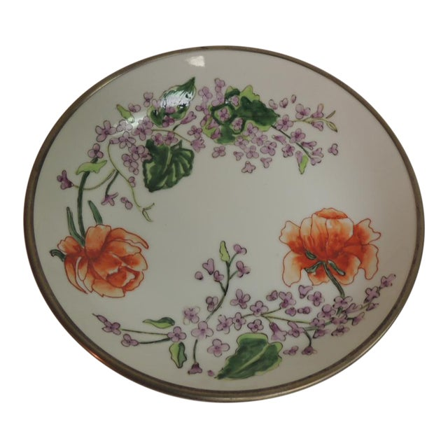 Vintage Japanese Imari Porcelain Enameled Metal Plate - Image 1 of 4