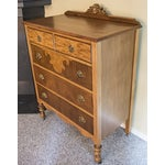 Image of Vintage Maple Dresser with Walnut Veneers