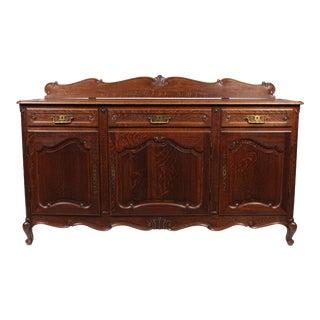 1940s Belgian Louis XV-Style Oak Buffet