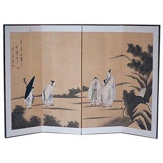 Chinese Buddhist Monks Screen, 1910s