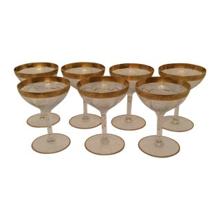 Vintage Tiffin Franciscan Champagne Coupes - Set/7