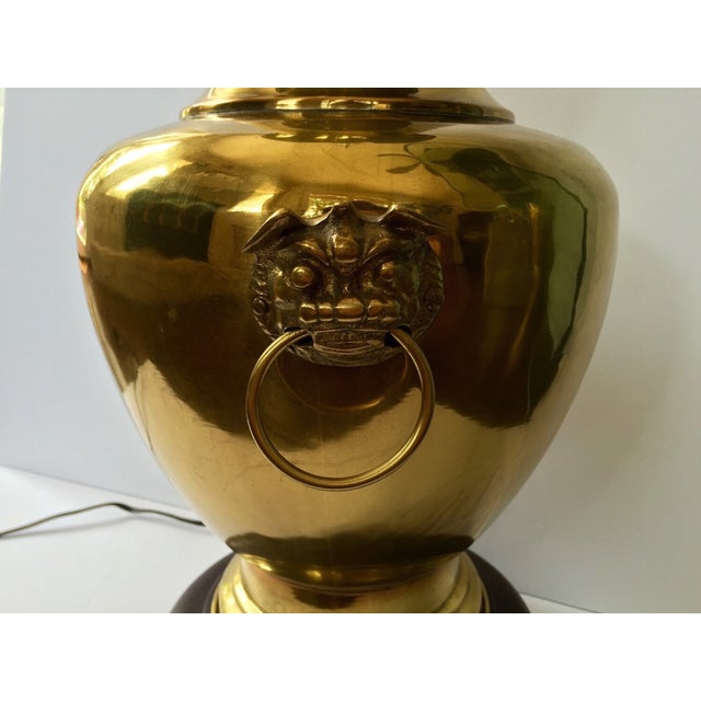 Vintage Brass Urn Lamp With Dragon Faces - Image 6 of 8