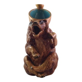 English Majolica Honey Bear Pitcher