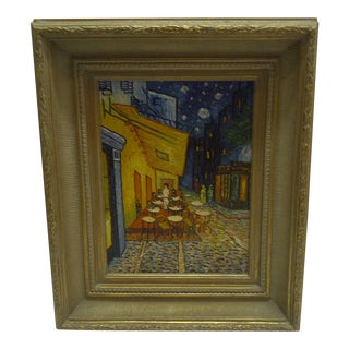 "Van Gogh ""Cafe Terrace at Night"" Professionally Painted Copy"