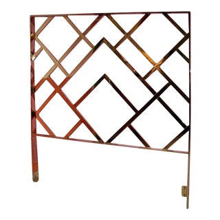 Vintage Milo Baughman Chinese Chippendale Brass King Headboard