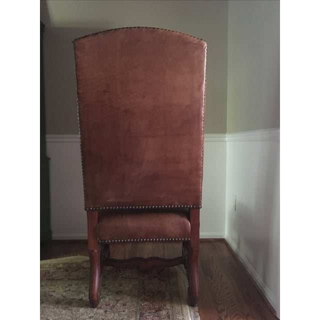 Ralph Lauren Leather Dining or Accent Chairs - S/4 - Image 5 of 6