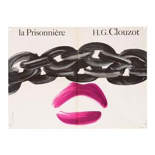 """1968 Vintage """"La Prisonniere"""" French Film Poster"""