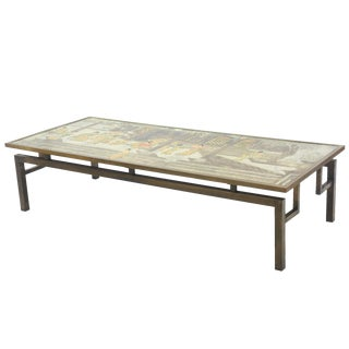 """Monumental American Modern Bronze and Patinated """"Chan"""" Low Table,P&K Laverne"""