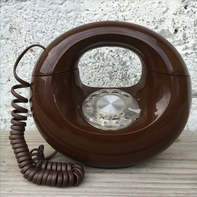 Midcentury Western Electric Donut Touch Tone Phone - Image 2 of 7