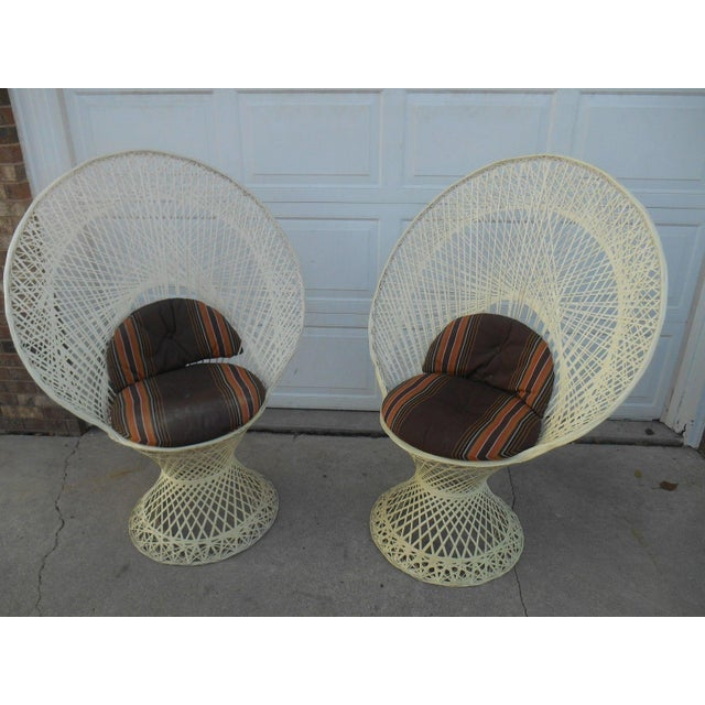 Mid-Century Aluminum Peacock Chairs - A Pair - Image 2 of 6