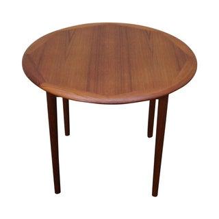 Haug Snekkeri Danish Modern Round Teak Side Table